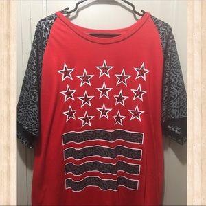 Mens shirt Red Stars & Stripes